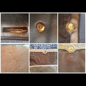 Michael Kors Bags - MICHAEL KORS GOLD Leather Large Clutch